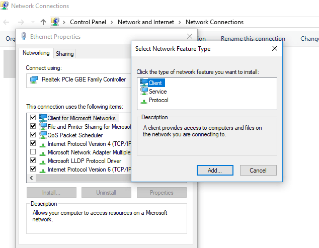 Ethernet doesn't have a valid IP configuration (Unidentified