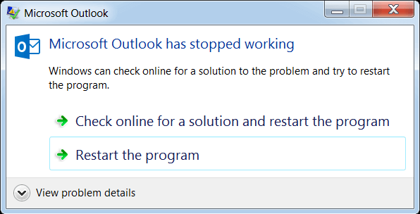 Solved: Microsoft outlook not responding Freezes on windows 10