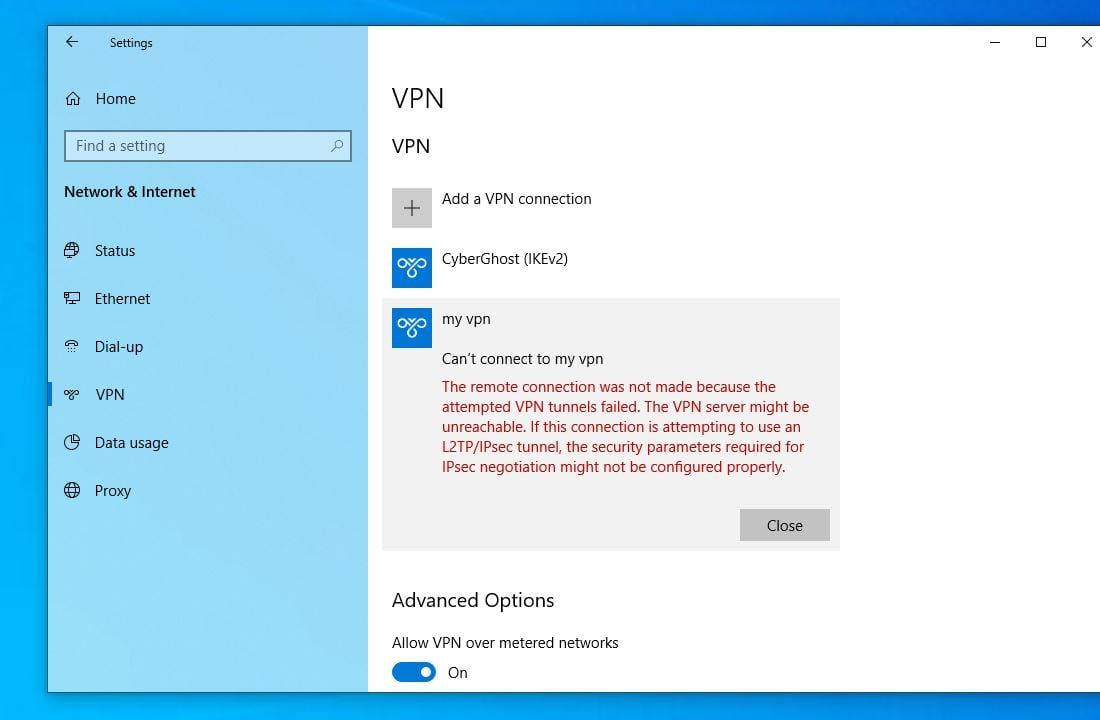 VPN erro 691 on Windows 10 - Cannot Connect To Vpn Windows 10